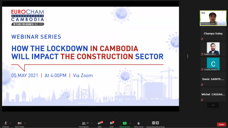 Webinar on How the Lockdown in Cambodia will Impact the Construction Sector