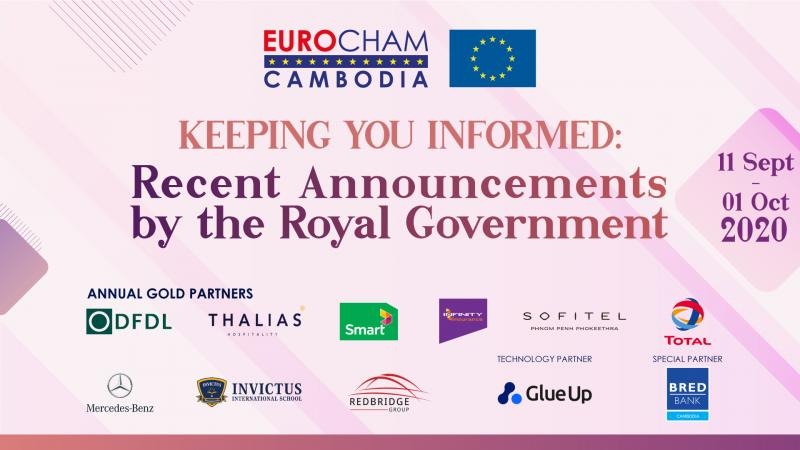 11 SEPTEMBER - 01 OCTOBER | KEEPING YOU INFORMED: RECENT ANNOUNCEMENTS BY THE ROYAL GOVERNMENT
