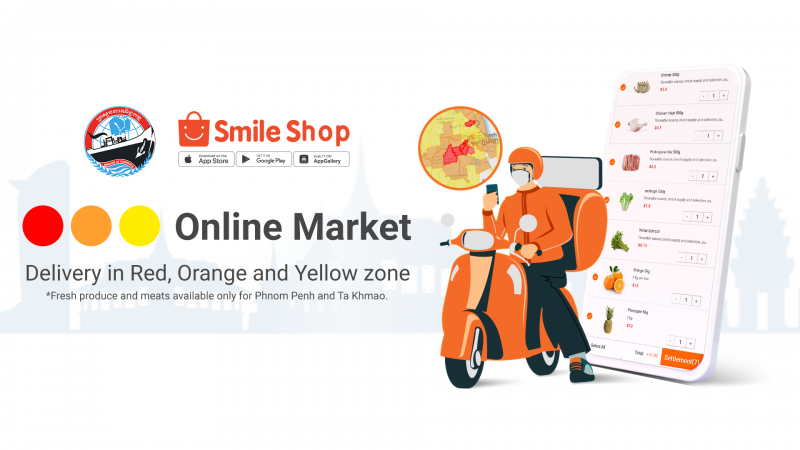 Smile Shop and the Ministry of Commerce officially partnered to deliver Phnom Penh red zone.