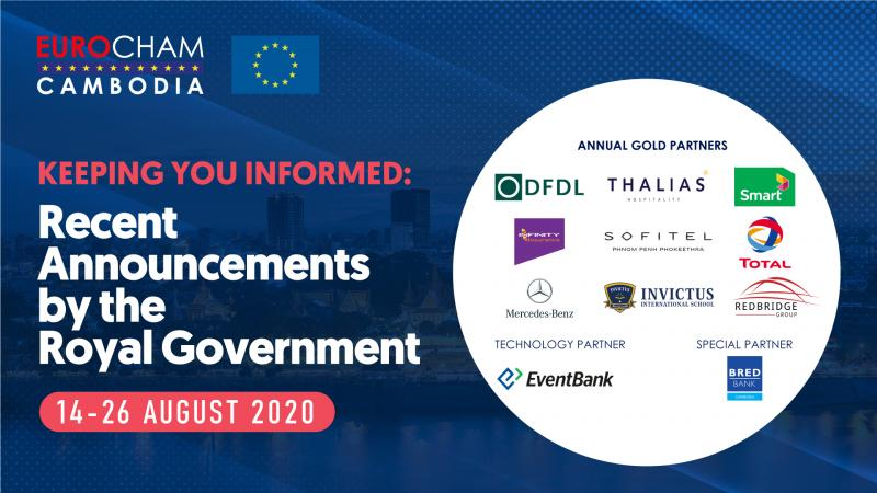 14 - 26 AUGUST | KEEPING YOU INFORMED: RECENT ANNOUNCEMENTS BY THE ROYAL GOVERNMENT