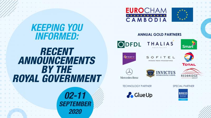 02 - 11 SEPTEMBER | KEEPING YOU INFORMED: RECENT ANNOUNCEMENTS BY THE ROYAL GOVERNMENT